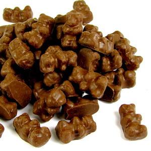 Chocolate 6 Flavor Gummi Bears 8 oz