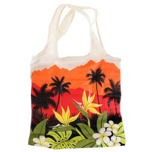 Hawaiian Print Large Tote Bag