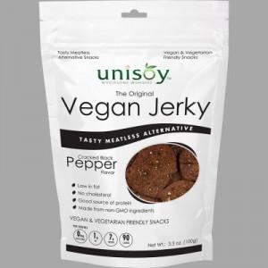 Unisoy Black Pepper Vegan Jerky 3.5 oz