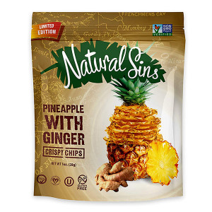 Natural Sins Ginger Pineapple Chips 1 oz