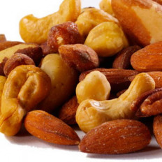 Roasted Unsalted Mixed Nuts 16 oz