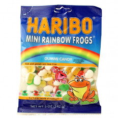 Mini Rainbow Gummi Frogs 5 oz