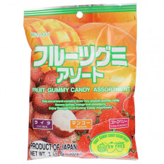 Kasugai Assorted Fruit Gummy Candy 3.77 oz