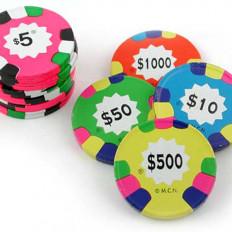 Chocolate Poker Chips 16 oz