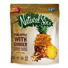 Natural Sins Ginger Pineapple Chips 1 oz